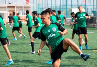 Bengaluru FC skipper Sunil Chhetri in training at the FSV Arena, in Bengaluru (Photo courtesy: Bengaluru FC)