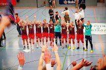 """German Women's Bundesliga side 1. FFC Turbine Potsdam have won the the prestigious 38th """"Weltklasse"""" International Women's Indoor Tournament 2018 (""""Internationales Frauen-Hallenfußball-Turnier um den Pokal der Sparkasse Bielefeld"""") in Bielefeld (Photo courtesy: CPD Football)"""