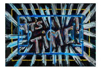 It's Time by American-Italian painter and sculptor, Florian Crespol (Image courtesy: HG Contemporary Gallery)
