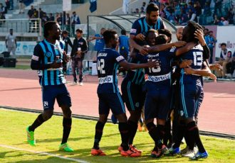Minerva Punjab FC players celebrating a goal (Photo courtesy: I-League Media)