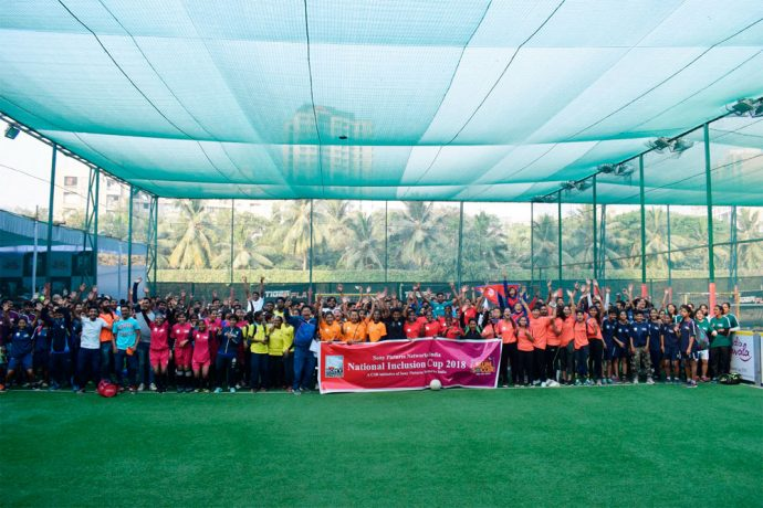 The National Inclusion Cup 2018: A Sony Pictures Networks CSR initiative in partnership with Slum Soccer (Photo courtesy: Slum Soccer)