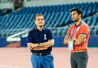 All India Football Federation President Praful Patel and Director of National Teams Abhishek Yadav (Photo courtesy: AIFF Media)