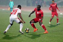 Shillong Lajong FC's Saihou Jagne in action against Aizawl FC (Photo courtesy: Shillong Lajong FC)