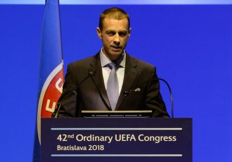 UEFA President Aleksander Čeferin (Photo courtesy: UEFA)