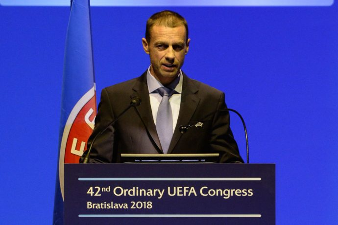 UEFA President Aleksander Čeferin (Photo courtesy: UEFA)