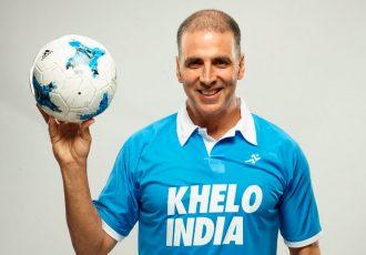 Akshay Kumar supports the Khelo India movement (Photo courtesy: Star Sports)