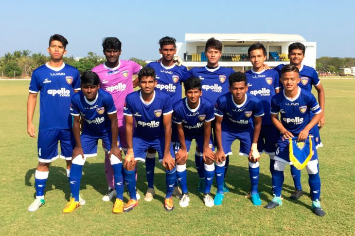 Chennaiyin FC U-18 team (Photo courtesy: Chennaiyin FC)