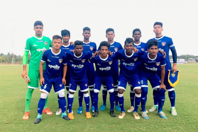 Chennaiyin FC U-18 team (Photo courtesy: Chennaiyin FC)
