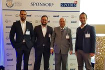Chris Punnakkattu Daniel (CPD Football), Arunava Chaudhuri (arunfoot), All India Football Federation (AIFF) Senior Vice-President Subrata Dutta and Krish Roy at SPOBIS 2018 in Düsseldorf, Germany on January 30. (Photo courtesy: CPD Football)
