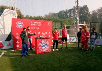 Bixente Lizarazu at the 2018 FC Bayern Youth Cup – India Finals (Photo courtesy: adidas India)