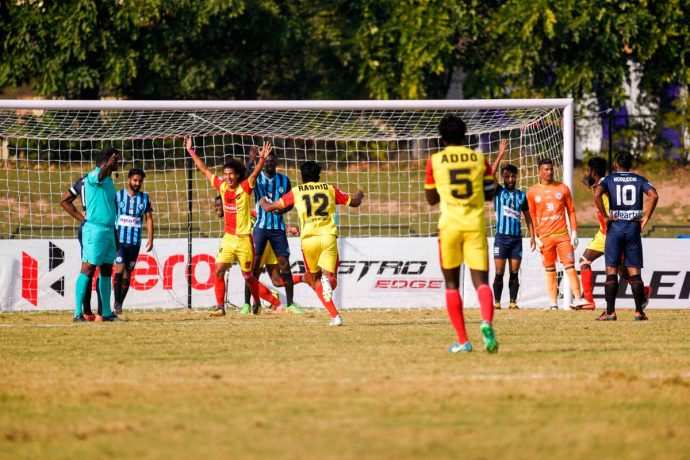Gokulam Kerala score upset win at Minerva Punjab to open up I-League title race (Photo courtesy: I-League Media)