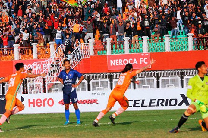 NEROCA's Williams late strike against Churchill Brothers spices up the I-League title race (Photo courtesy: I-League Media)