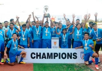 Minerva Punjab FC lift their third Nike Premier Cup trophy in style (Photo courtesy: AIFF Media)