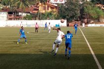 Panjim Footballers came from behind to hold Dempo Sports Club to a 2-2 draw in a Goa Professional League game. (Photo courtesy: Goa Football Association)