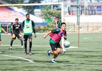 Bengaluru FC captain Sunil Chhetri in training at the Bangalore Football Stadium, in Bengaluru. (Photo courtesy: Bengaluru FC)