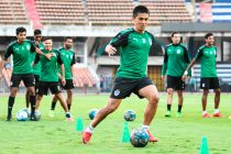 Bengaluru FC skipper Sunil Chhetri in training at the Sree Kanteerava Stadium, in Bengaluru. (Photo courtesy: Bengaluru FC)