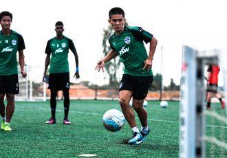 Bengaluru FC captain Sunil Chhetri during a training session. (Photo courtesy: Bengaluru FC)