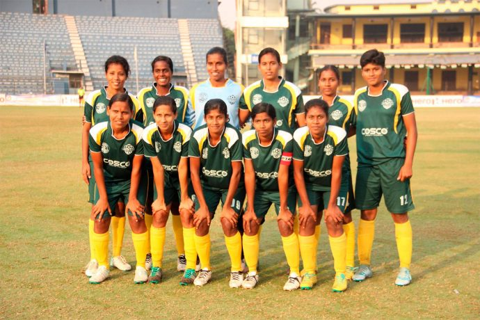 Tamil Nadu Women's State Team (Photo courtesy: AIFF Media)
