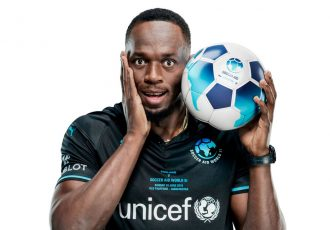 Usain Bolt to play first official football match at Old Trafford for Soccer Aid for Unicef (Photo courtesy: Unicef)