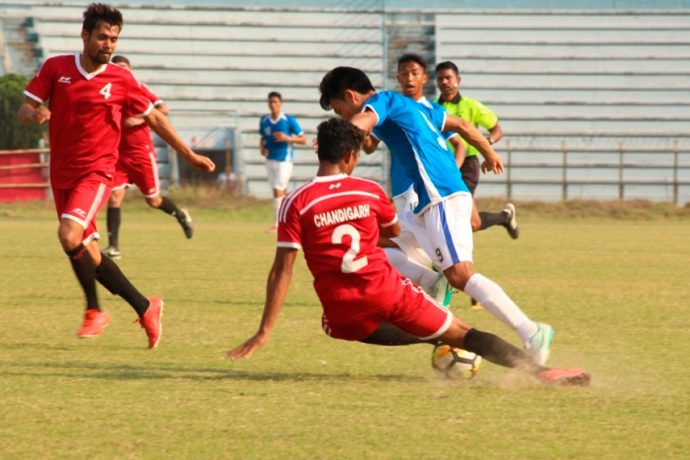 Chandigarh shares honours with Manipur as match ends 1-1 (Photo courtesy: AIFF Media)