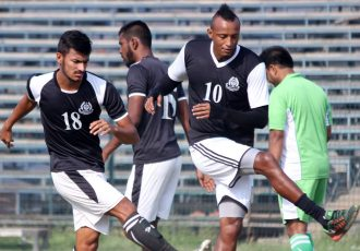 Fikru Teferra Lemessa start training with Mohammedan Sporting first team (Photo courtesy: Mohammedan Sporting Club)