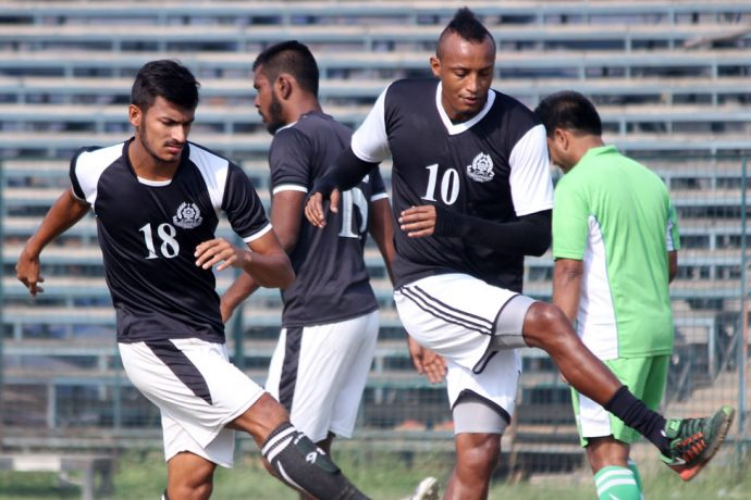 Fikru Teferra Lemessa start training with Mohammedan Sporting first team (Photo courtesy: Mohammedan Sporting Club)
