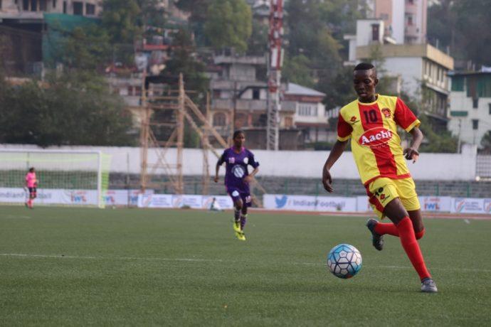 Fazila scores five goals as Gokulam Kerala FC decimate Indira Gandhi Academy for Sports & Education 6-1. (Photo courtesy: AIFF Media)