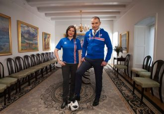 The President of Iceland Guðni Th. Jóhannesson and First Lady Eliza. (Photo courtesy: Inspired By Iceland)