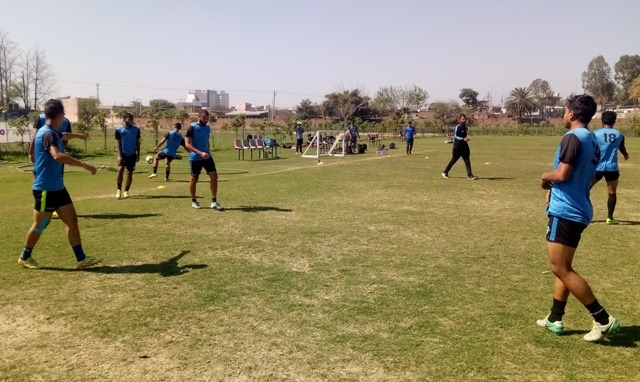 Minerva Punjab FC training session (Photo courtesy: I-League Media)