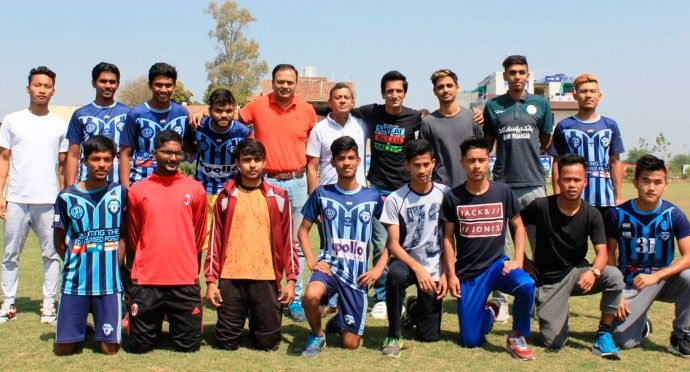 AIFF dignitaries visit Minerva Punjab FC Academy (Photo courtesy: AIFF Media)