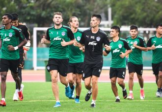Bengaluru FC's training session at the Kalinga Stadium Training Ground on the eve of their Super Cup pre-quarterfinal clash against Gokulam Kerala FC. (Photo courtesy: Bengaluru FC)