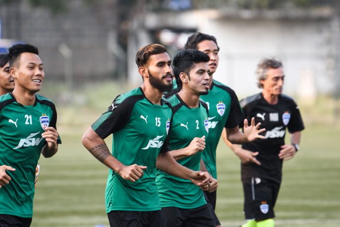 Bengaluru FC players in training (Photo courtesy: Bengaluru FC)