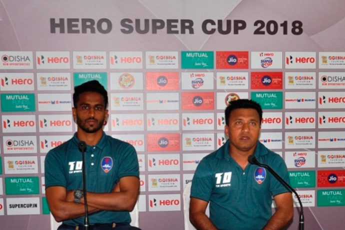 Delhi Dynamos FC Press Conference ahead of the Hero Super Cup encounter against Churchill Brothers (Photo courtesy: AIFF Media)