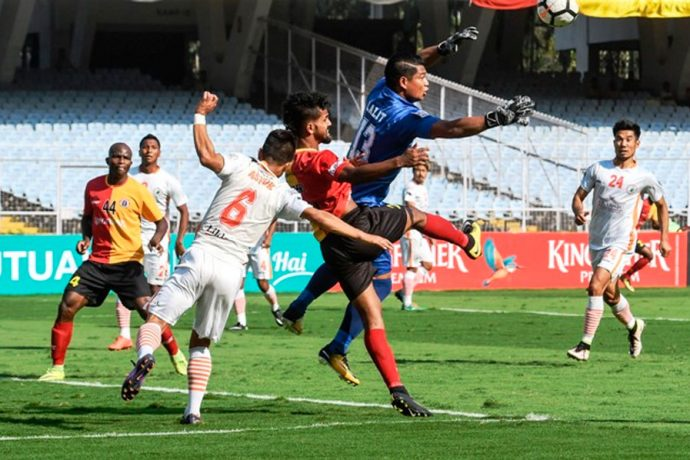East Bengal and NEROCA FC play out a thrilling draw in the I-League. (Photo courtesy: I-League Media)