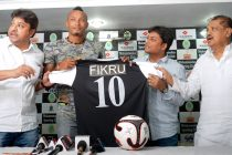 Mohammedan Sporting unveil Ethiopian star Fikru Teferra Lemessa (Photo courtesy: Mohammedan Sporting Club)