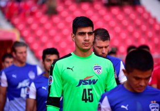 Bengaluru FC goalkeeper Gurpreet Singh Sandhu (Photo courtesy: Bengaluru FC)