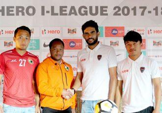 Pre-match press conference ahead of the Shillong Lajong FC v East Bengal I-League match. (Photo courtesy: Shillong Lajong FC)