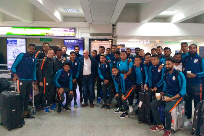 Indian national team reaches Bishkek for AFC Asian Cup qualifier (Photo courtesy: AIFF Media)