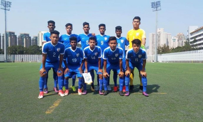 India U-16 National Team at the Jockey Club International Youth Invitational Football Tournament 2018 (Photo courtesy: AIFF Media)