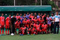 Kerala State Team for the 2018 Santosh Trophy (Photo courtesy: AIFF Media)