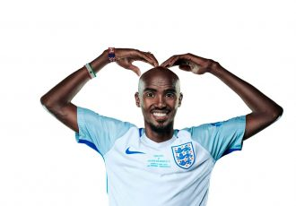 Sir Mo Farah becomes first England player to sign for Soccer Aid for Unicef (Photo courtesy: Unicef)