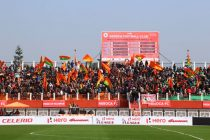 NEROCA FC fans at an I-League encounter in Imphal (Photo courtesy: I-League Media)