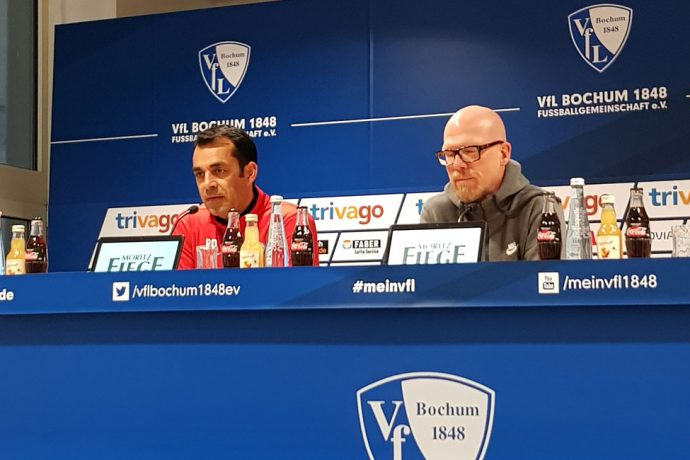 VfL Bochum coach Robin Dutt during a press conference (Photo courtesy: CPD Football)