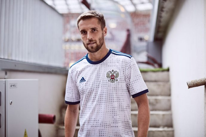Russia away jersey by adidas for the 2018 FIFA World Cup. (Photo courtesy: adidas)