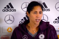 Germany's Women's national coach Steffi Jones (Photo courtesy: DFB TV)