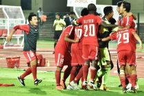 Aizawl FC end Chennaiyin FC's Super Cup campaign in a nail-biting finish. (Photo courtesy: AIFF Media)