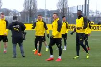 Usain Bolt trial with Borussia Dortmund (Photo courtesy: Screenshot BVB Facebook Live)