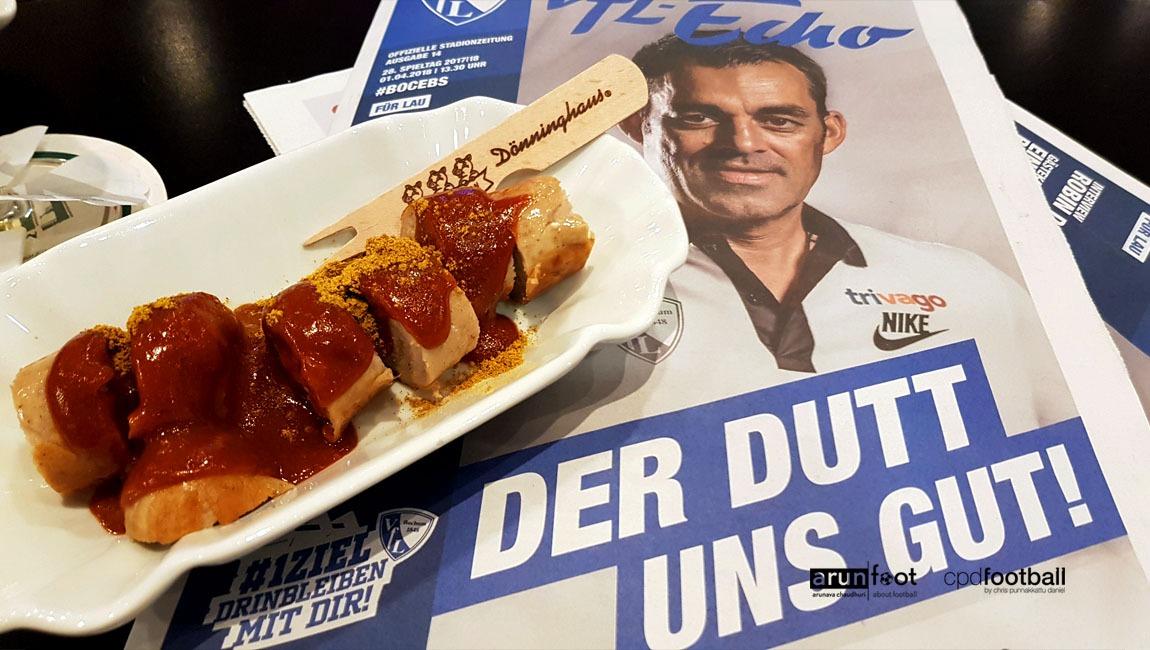 """""""Der Dutt uns gut"""" - Robin Dutt on the front page of the VfL Bochum matchday programme. (© arunfoot & CPD Football)"""