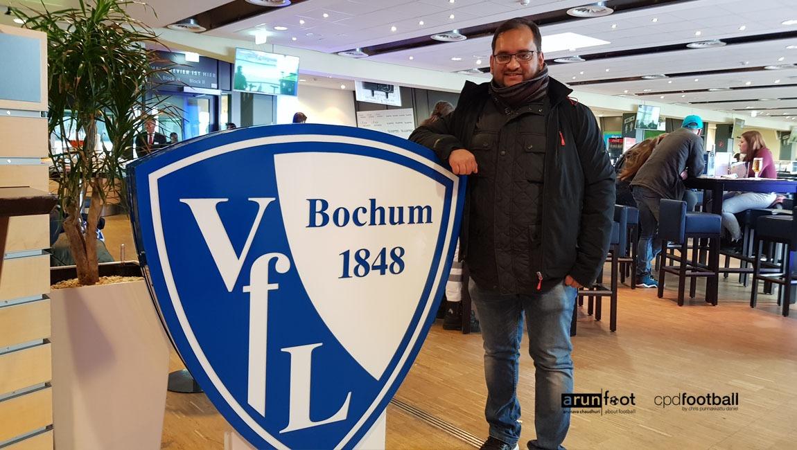 Arunava Chaudhuri at the VIP Lounge after the Bundesliga 2 match VfL Bochum vs Eintracht Braunschweig. (© arunfoot & CPD Football)