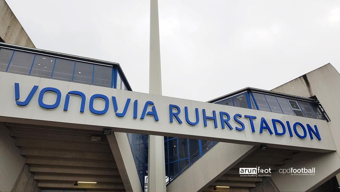 The Vonovia Ruhrstadion after the Bundesliga 2 match VfL Bochum vs Eintracht Braunschweig. (© arunfoot & CPD Football)
